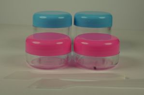 PACK OF 2 pieces Traveling Plastic Container with Spathula
